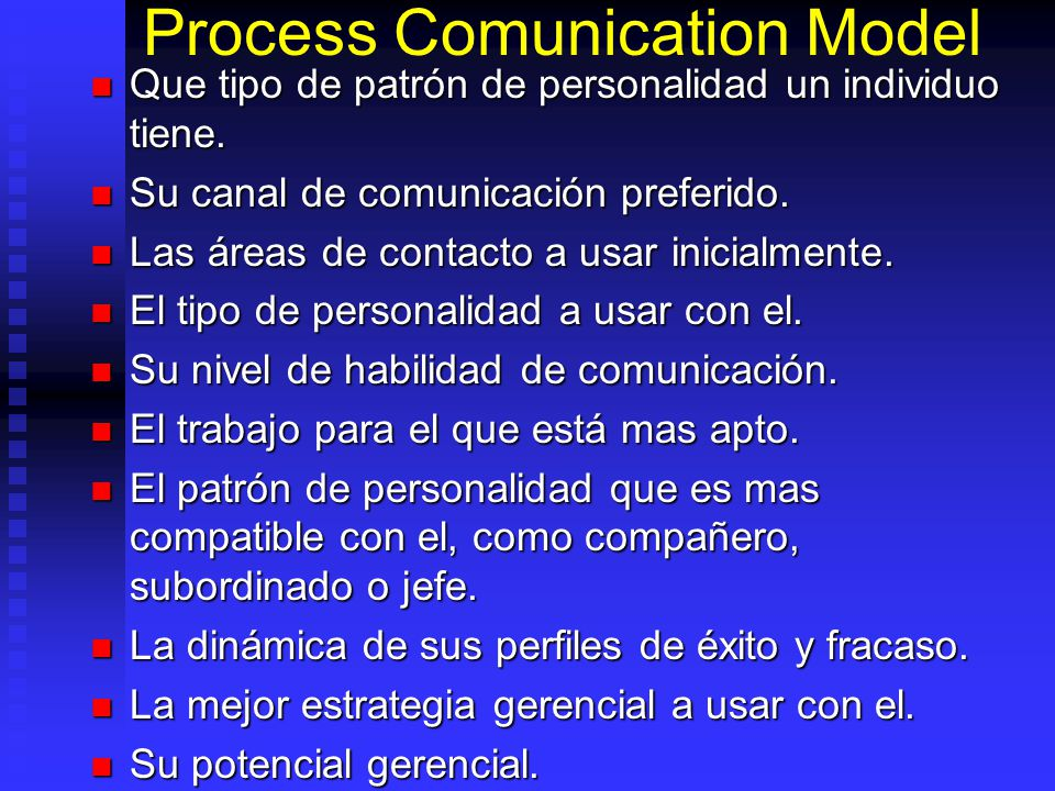 Process Comunication Model
