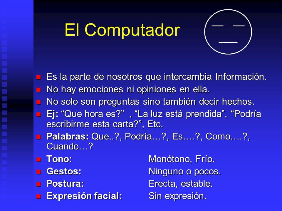 El Computador Es la parte de nosotros que intercambia Información.