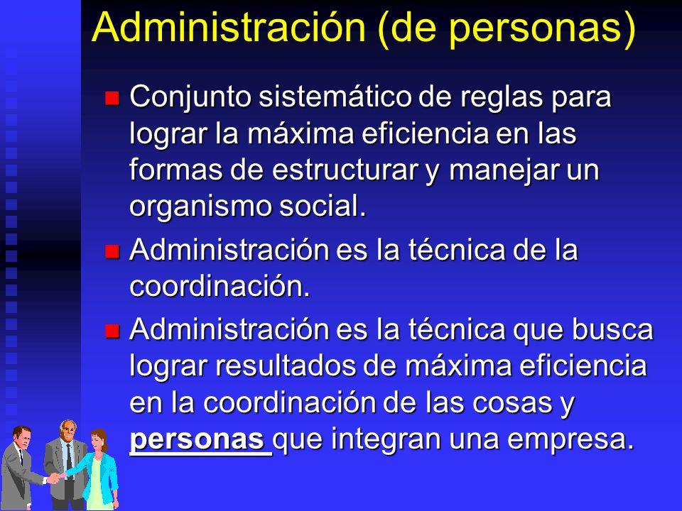 Administración (de personas)