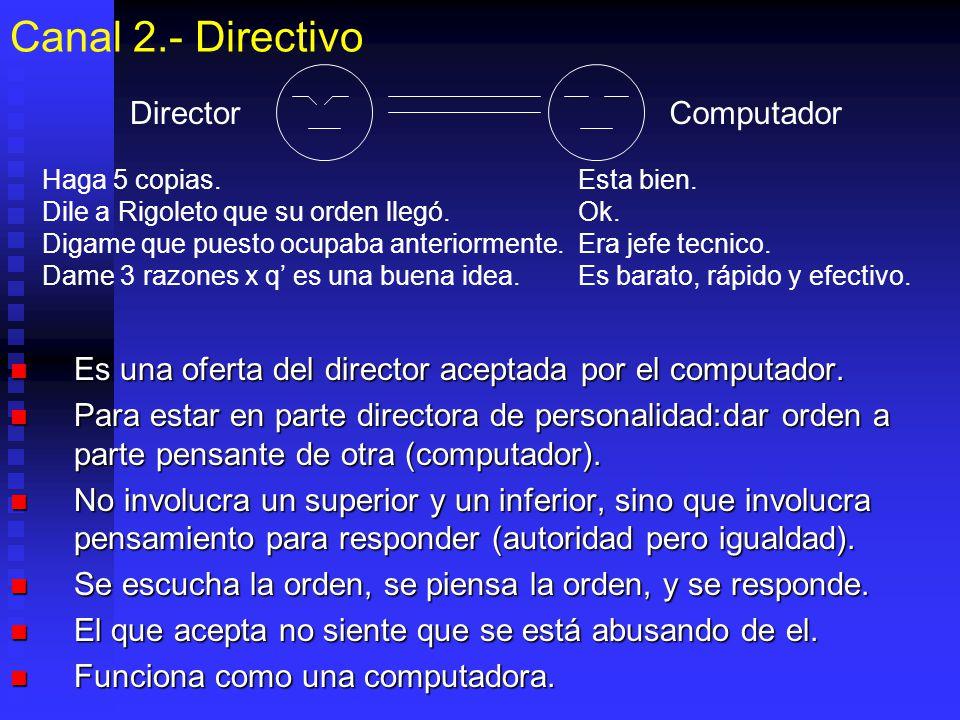 Canal 2.- Directivo Director Computador