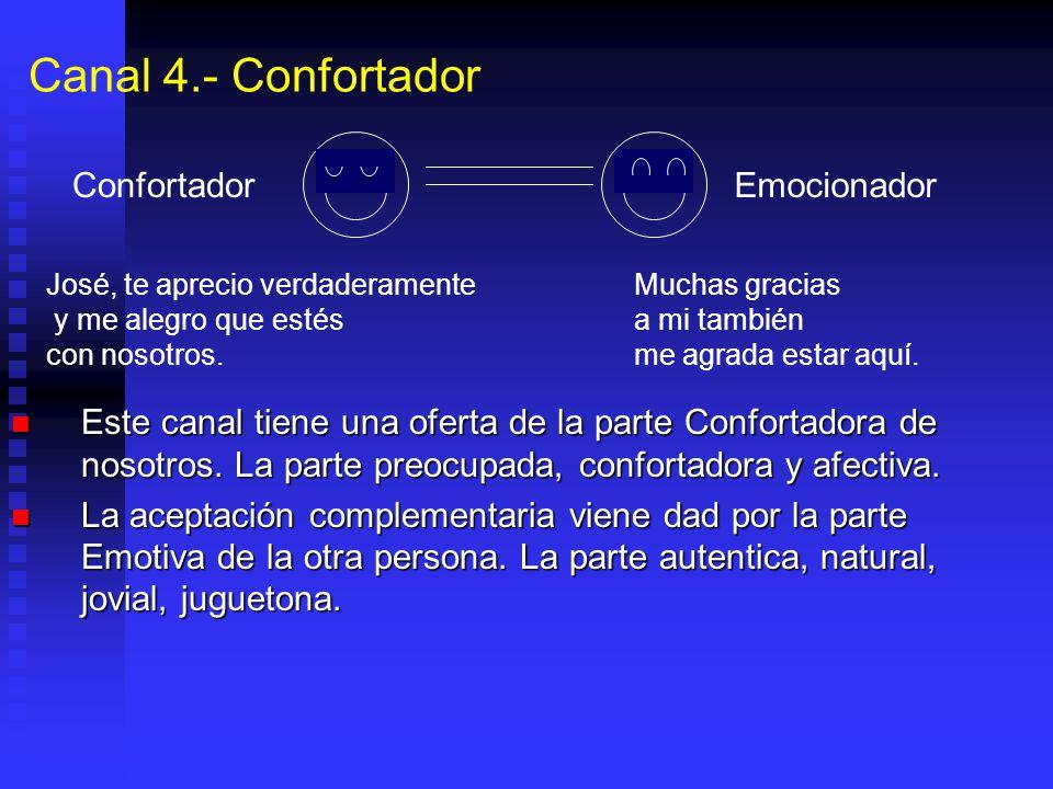 Canal 4.- Confortador Confortador Emocionador