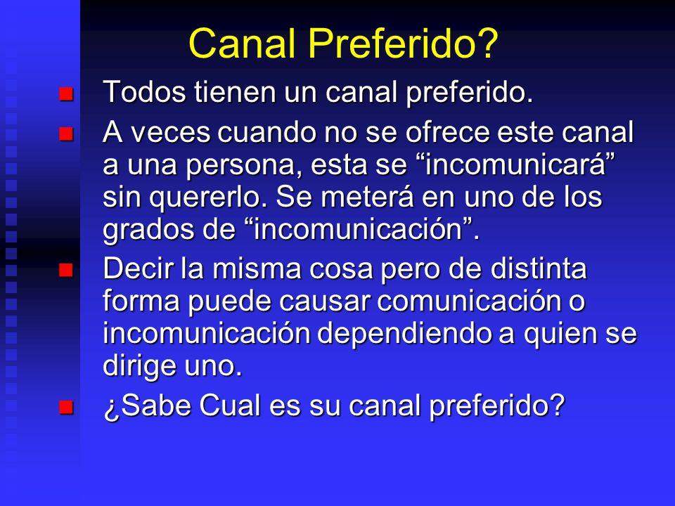Canal Preferido Todos tienen un canal preferido.