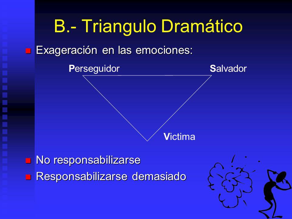B.- Triangulo Dramático