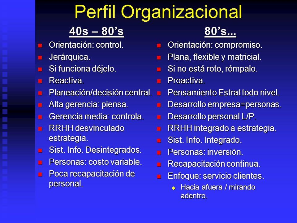 Perfil Organizacional