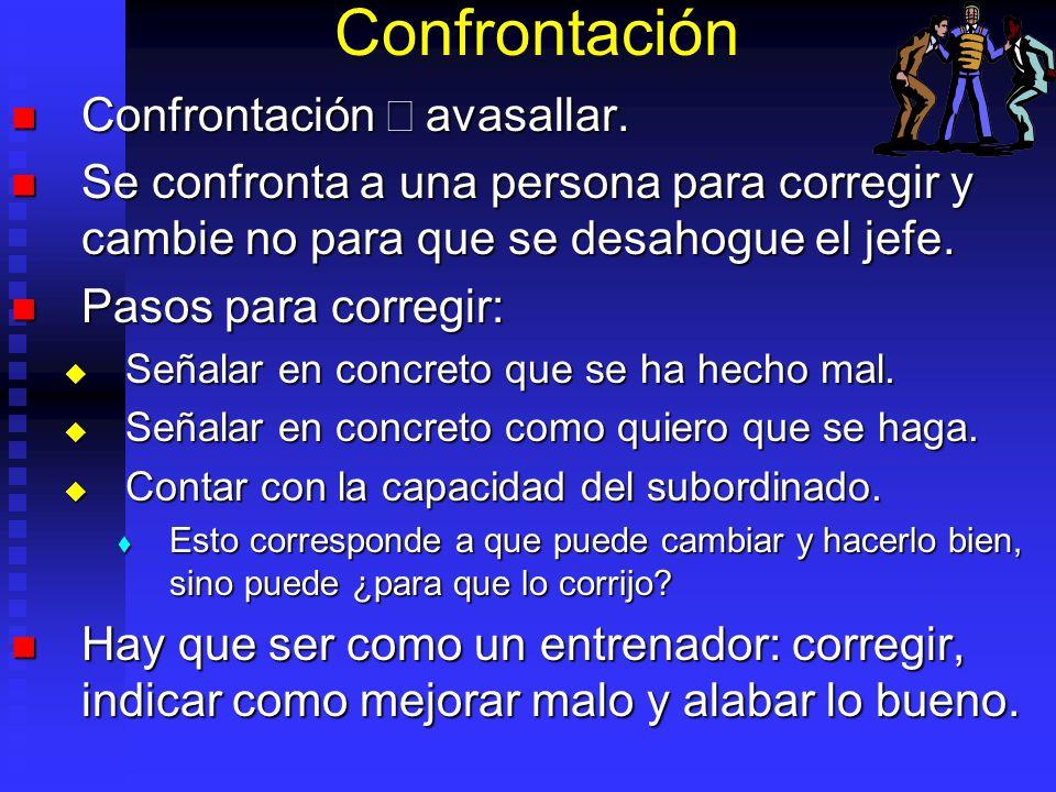 Confrontación Confrontación ¹ avasallar.
