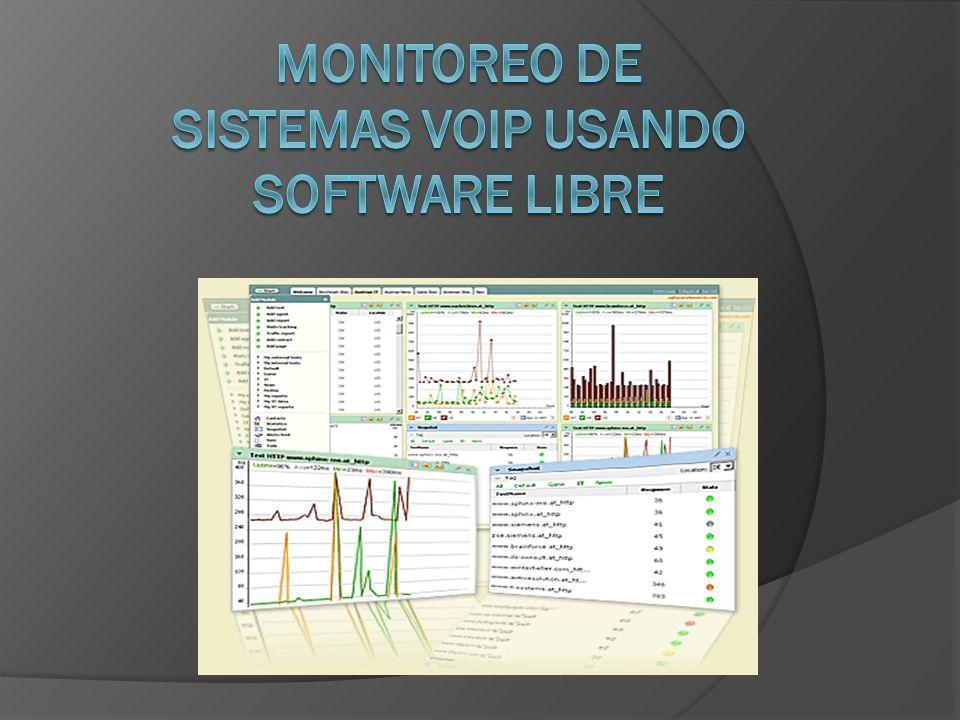 MONITOREO DE SISTEMAS VOIP USANDO SOFTWARE LIBRE