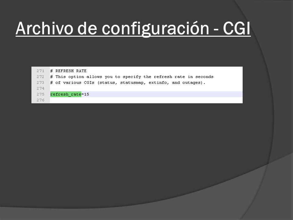 Archivo de configuración - CGI