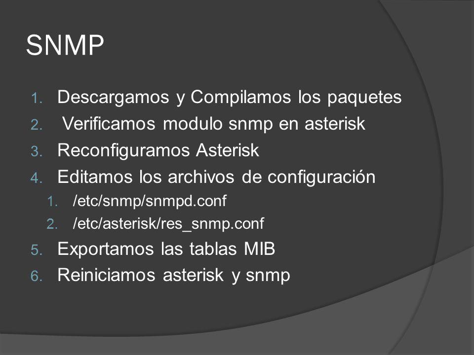SNMP Descargamos y Compilamos los paquetes