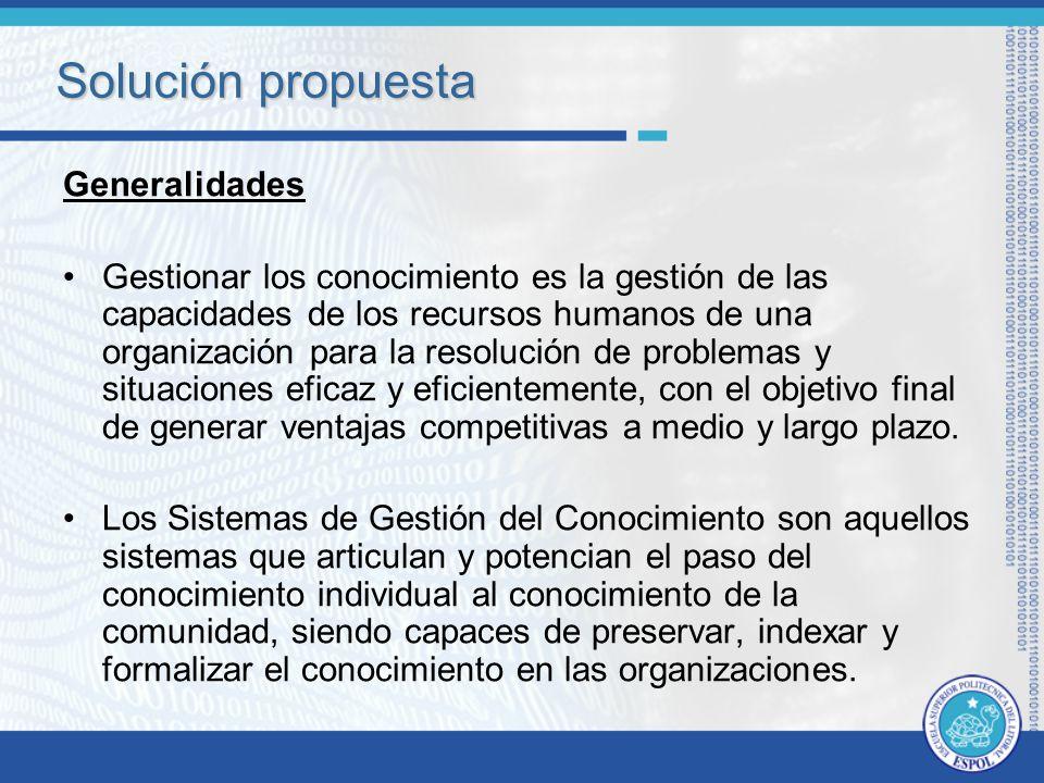 Solución propuesta Generalidades
