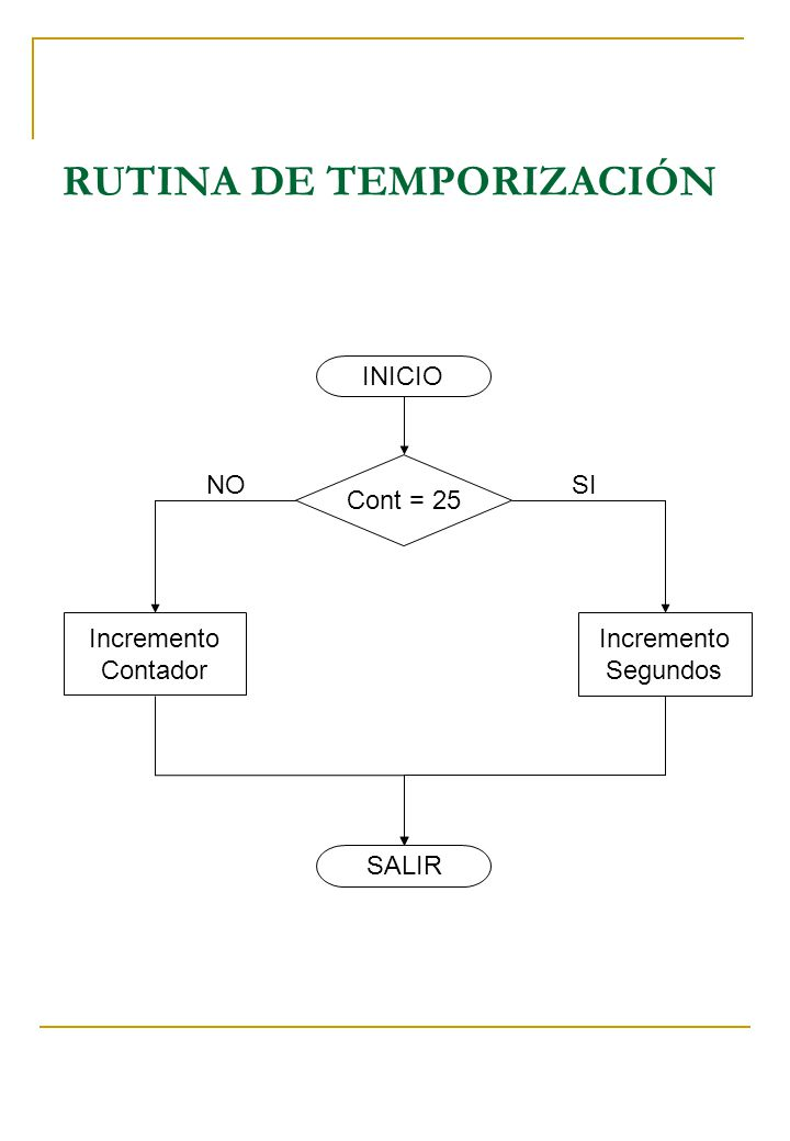 RUTINA DE TEMPORIZACIÓN