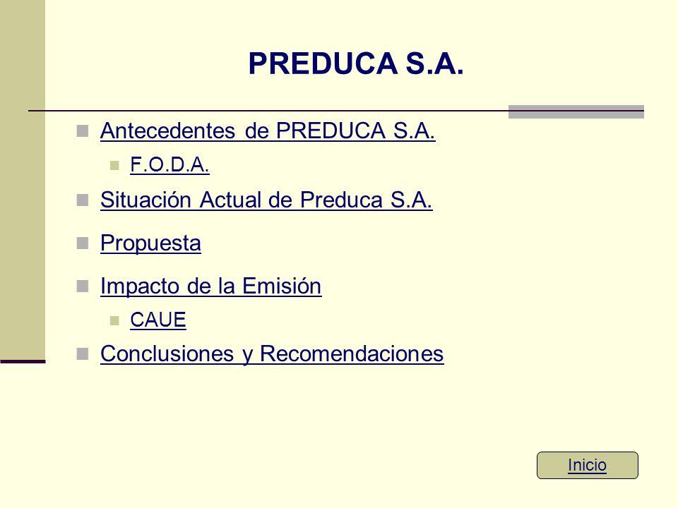 PREDUCA S.A. Antecedentes de PREDUCA S.A.