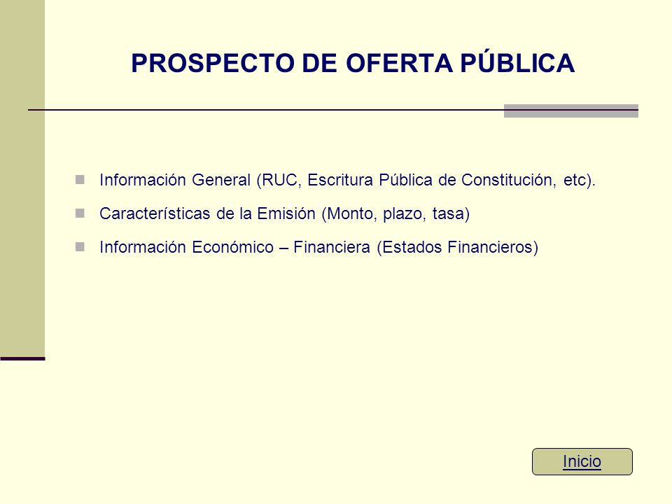 PROSPECTO DE OFERTA PÚBLICA