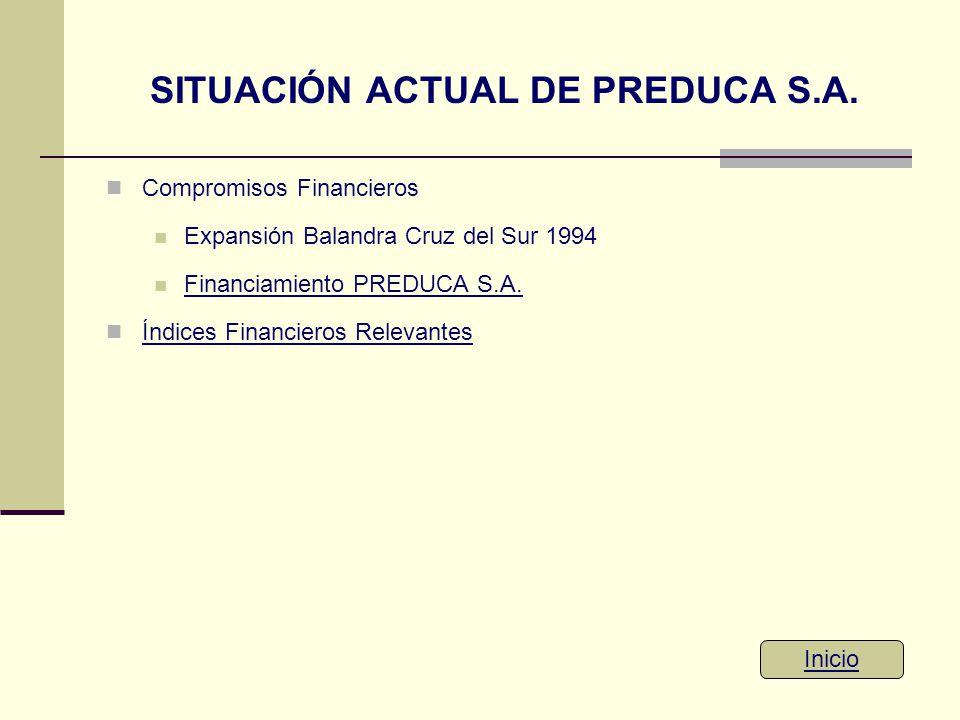 SITUACIÓN ACTUAL DE PREDUCA S.A.