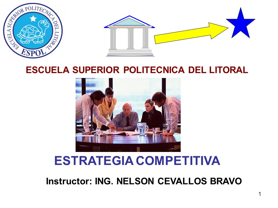 ESTRATEGIA COMPETITIVA Instructor: ING. NELSON CEVALLOS BRAVO