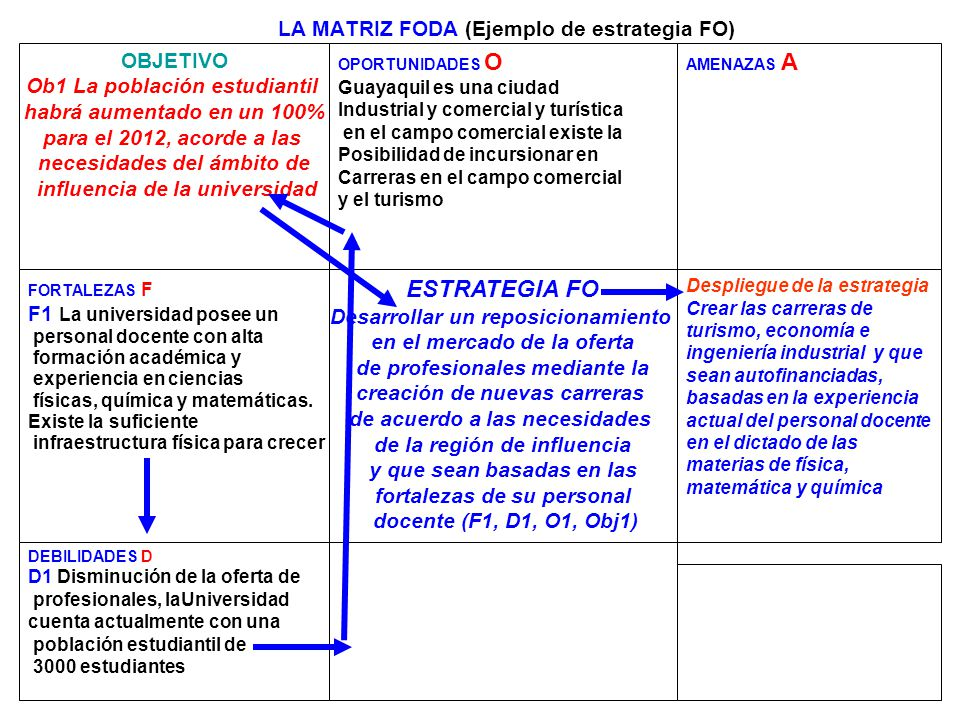 LA MATRIZ FODA (Ejemplo de estrategia FO)