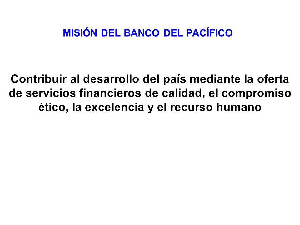 MISIÓN DEL BANCO DEL PACÍFICO