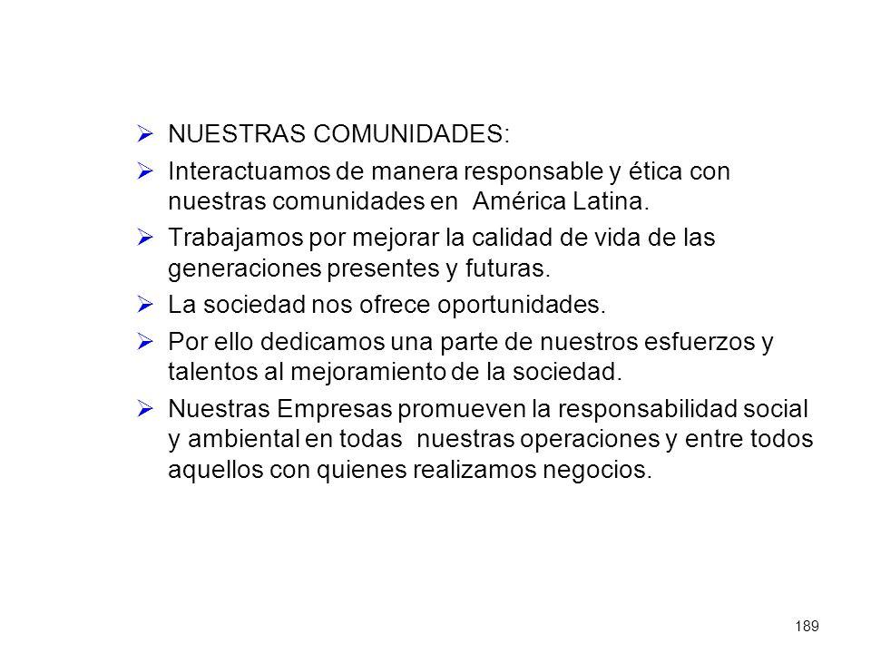 NUESTRAS COMUNIDADES: