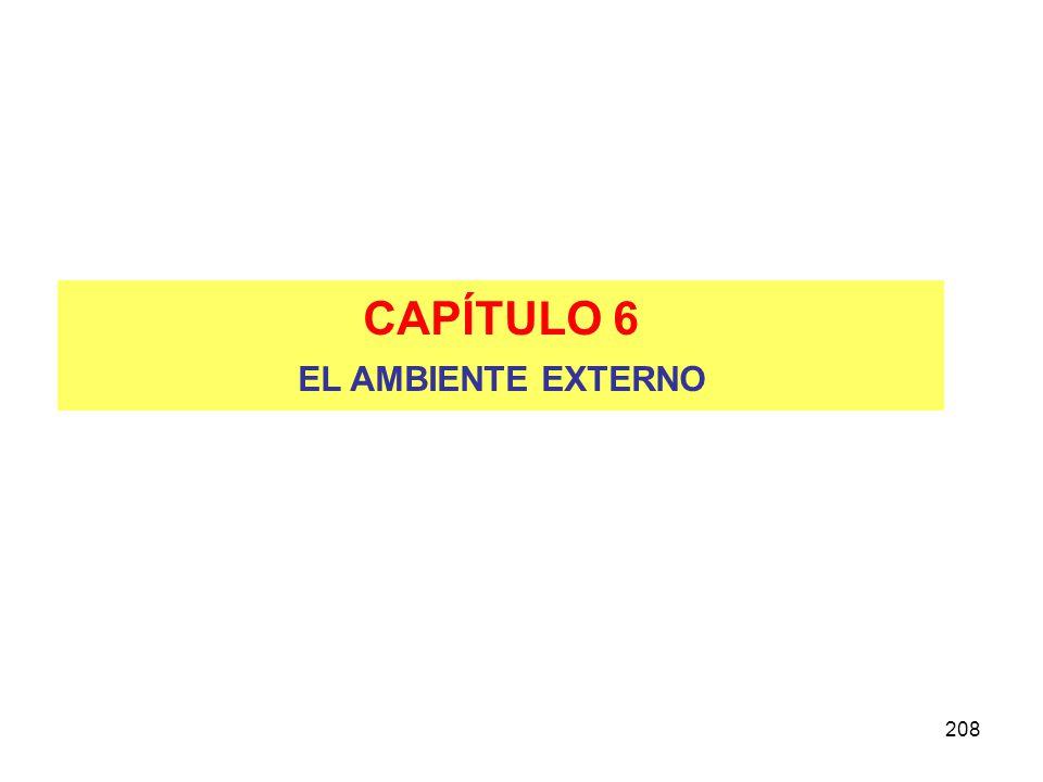CAPÍTULO 6 EL AMBIENTE EXTERNO