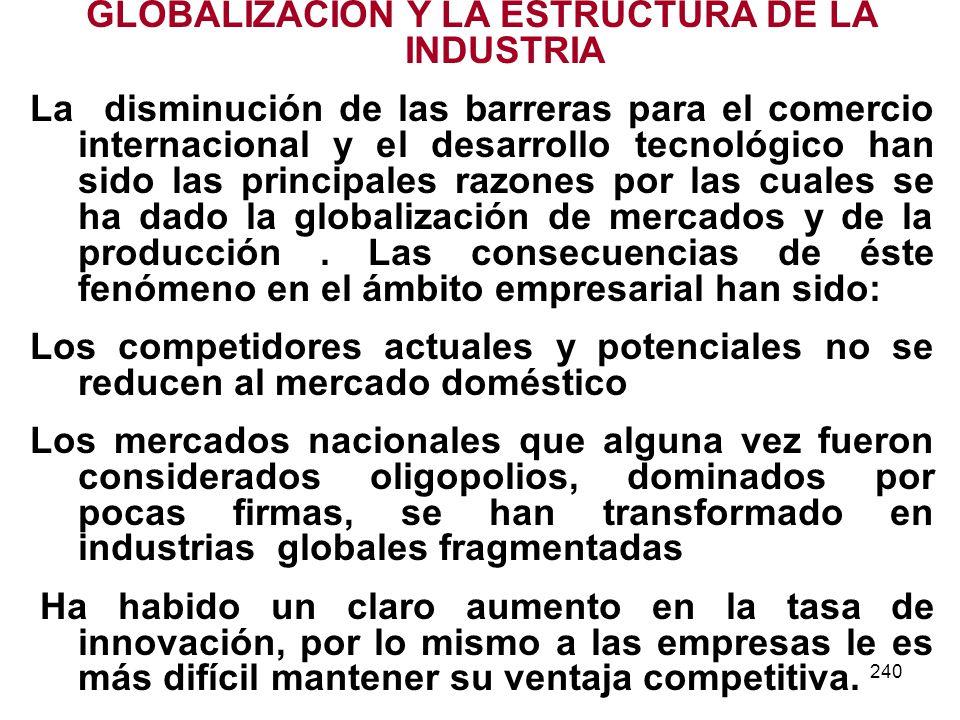 GLOBALIZACION Y LA ESTRUCTURA DE LA INDUSTRIA