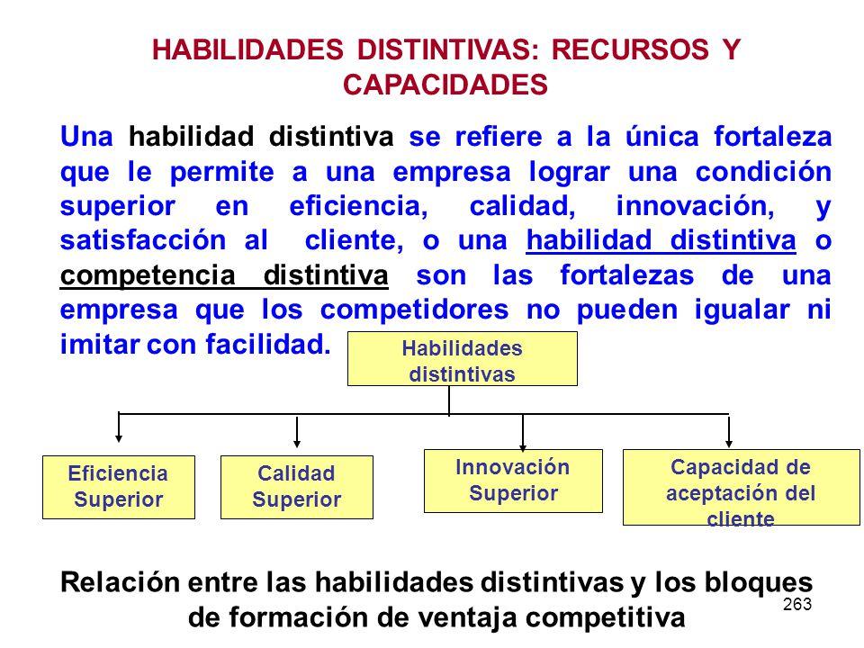 HABILIDADES DISTINTIVAS: RECURSOS Y CAPACIDADES