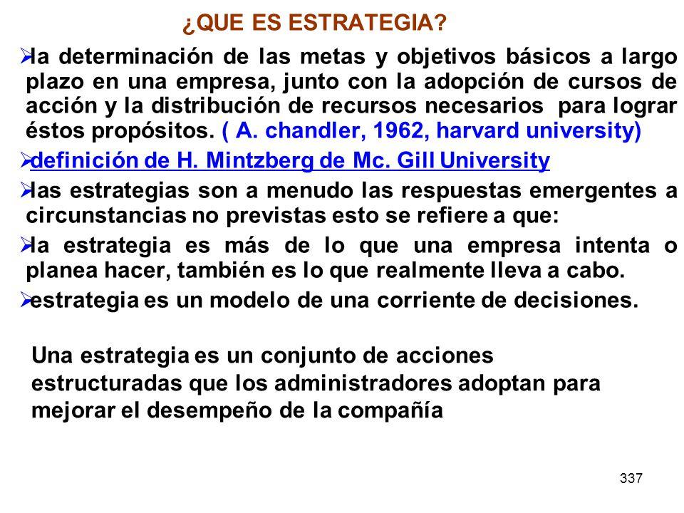 definición de H. Mintzberg de Mc. Gill University