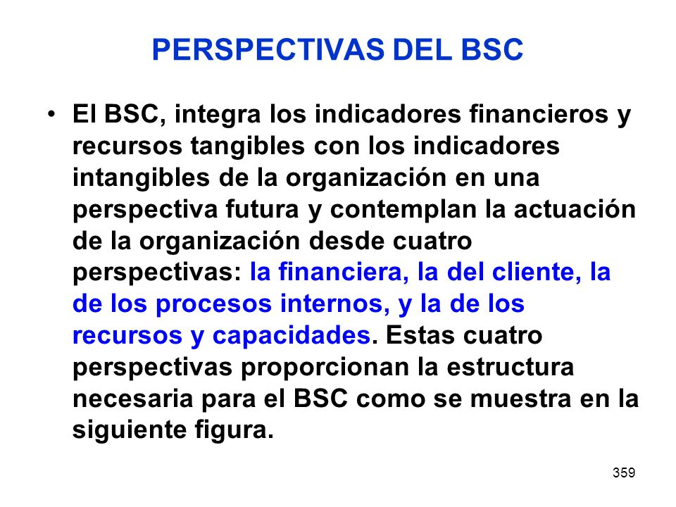 PERSPECTIVAS DEL BSC
