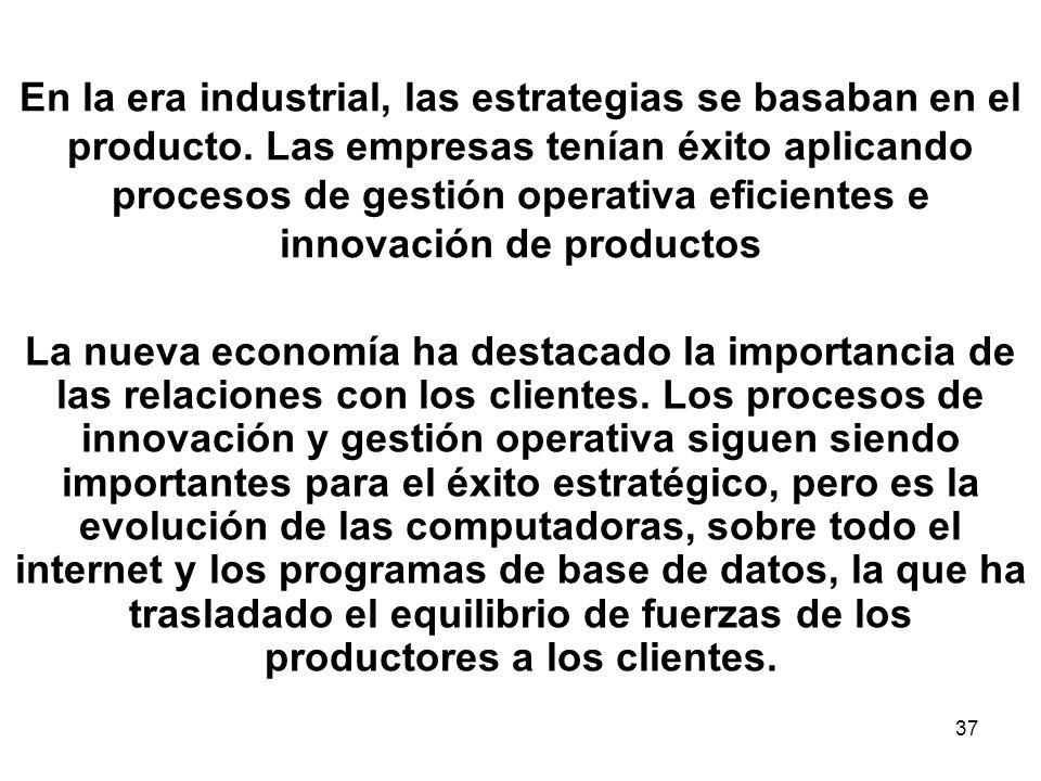 En la era industrial, las estrategias se basaban en el producto