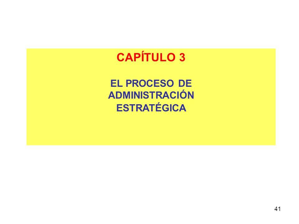 CAPÍTULO 3 EL PROCESO DE ADMINISTRACIÓN ESTRATÉGICA 41