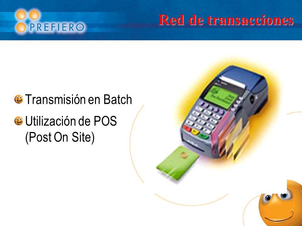 Red de transacciones Transmisión en Batch