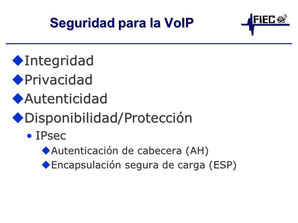 Disponibilidad/Protección