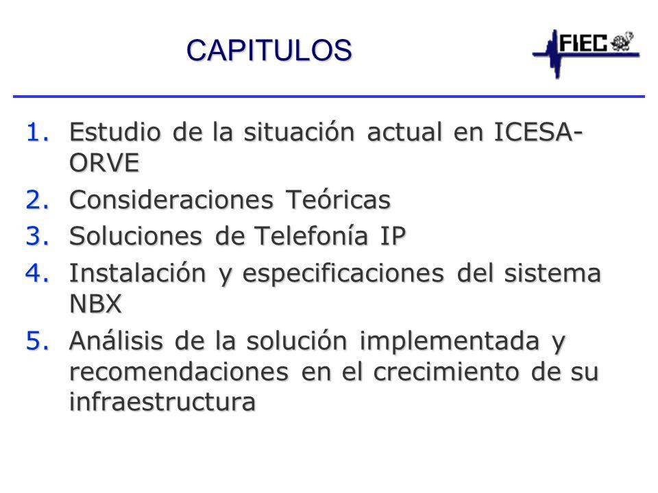 CAPITULOS Estudio de la situación actual en ICESA-ORVE