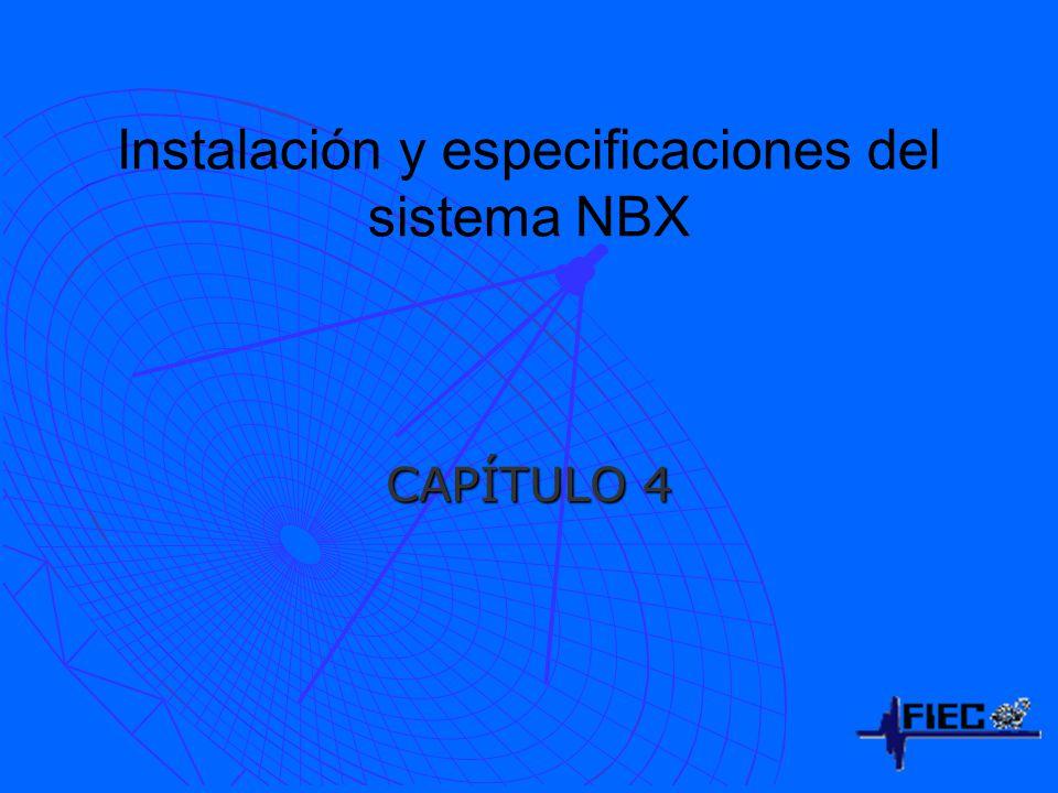 Instalación y especificaciones del sistema NBX