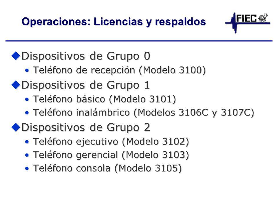 Operaciones: Licencias y respaldos