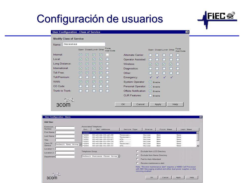 Configuración de usuarios