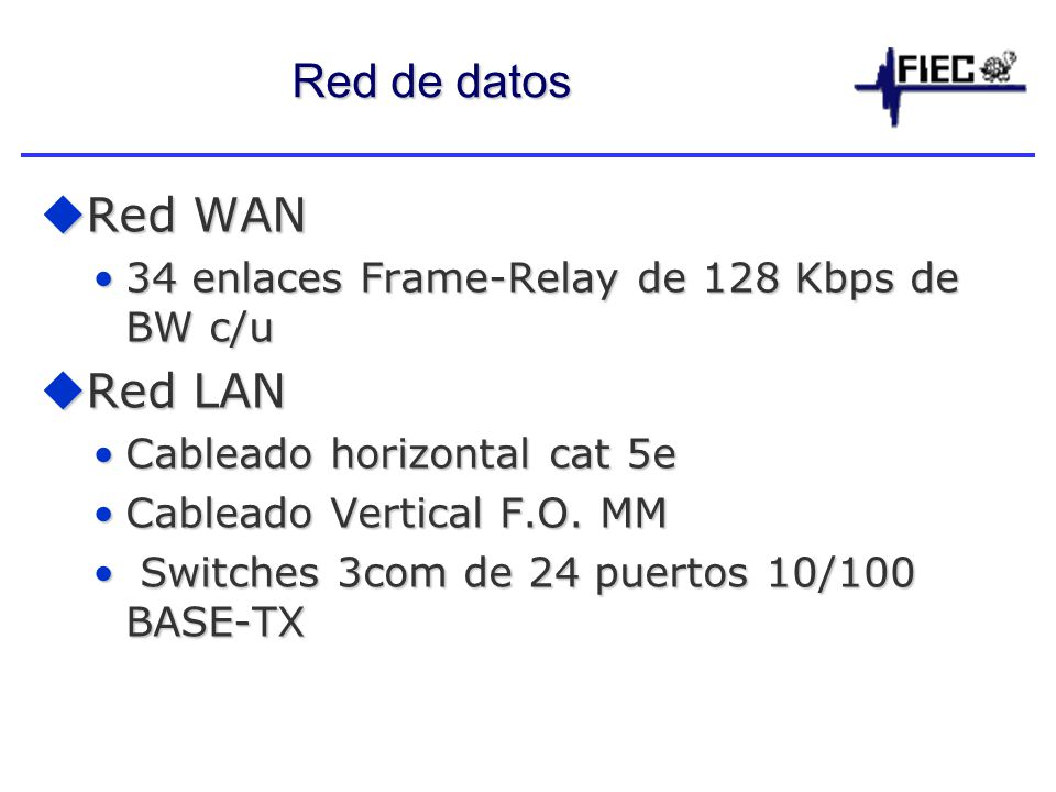 Red de datos Red WAN Red LAN