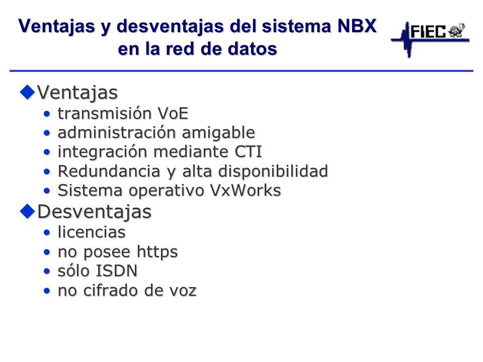 Ventajas y desventajas del sistema NBX en la red de datos