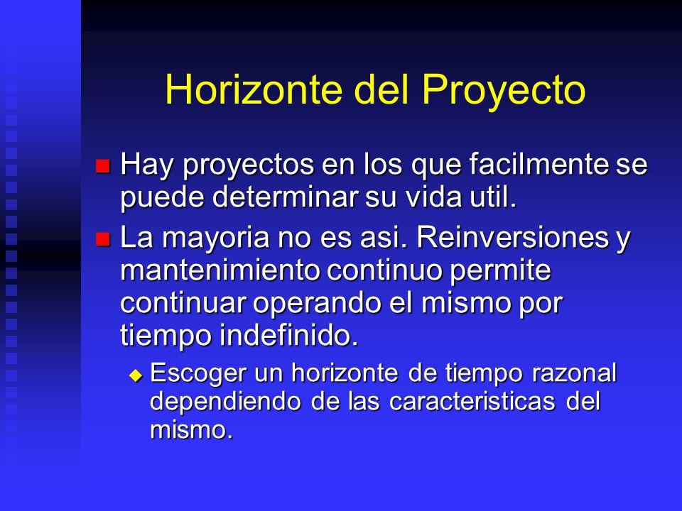 Horizonte del Proyecto