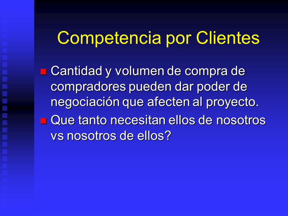 Competencia por Clientes