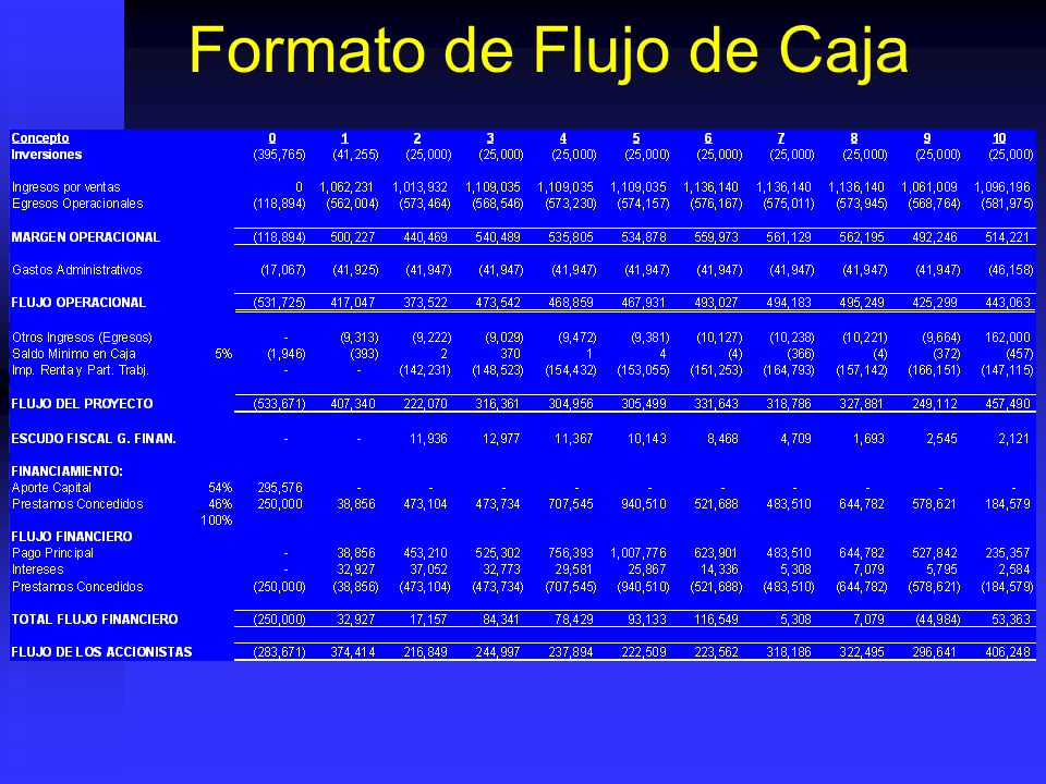 Formato de Flujo de Caja