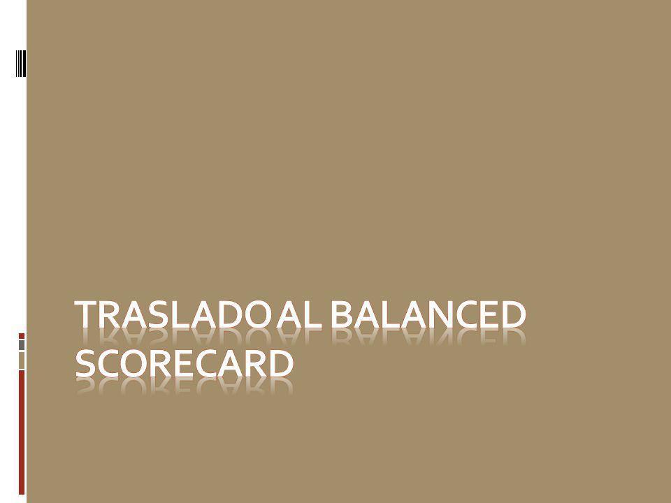 TRASLADO AL BALANCED SCORECARD