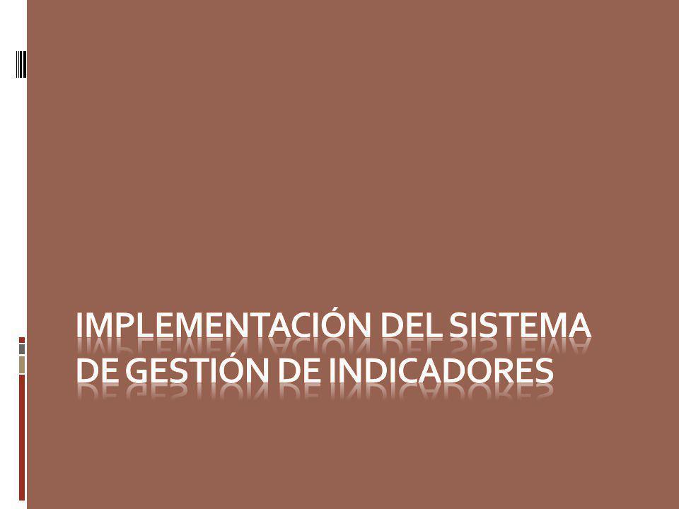 IMPLEMENTACIÓN DEL SISTEMA DE GESTIÓN DE INDICADORES