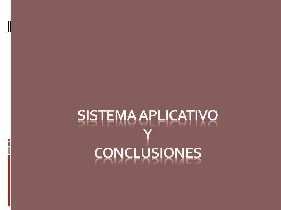 SISTEMA APLICATIVO Y CONCLUSIONES