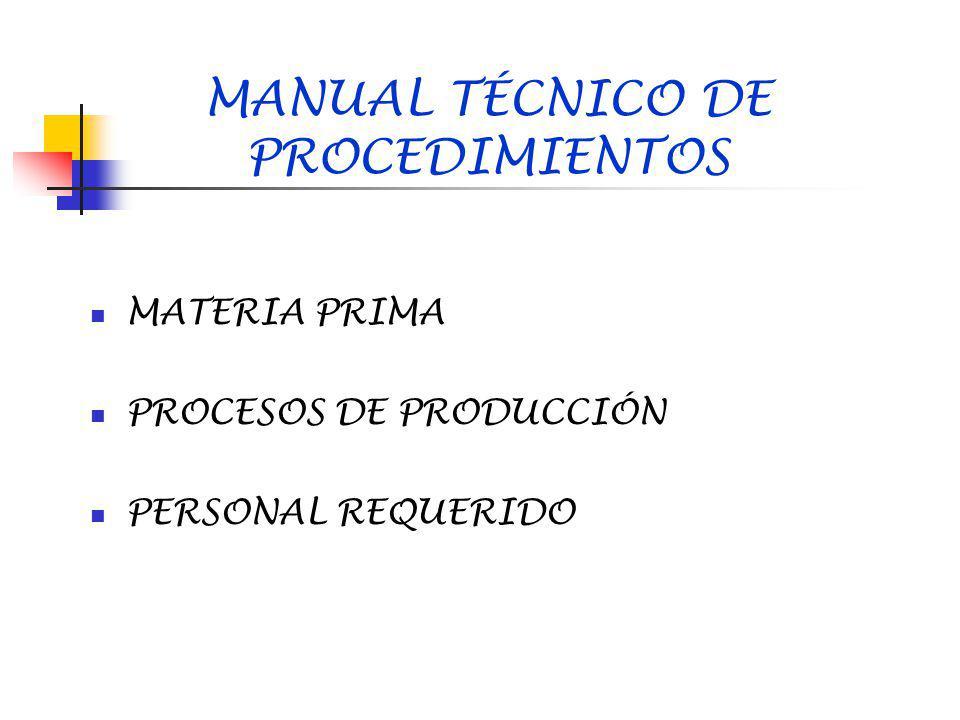 MANUAL TÉCNICO DE PROCEDIMIENTOS