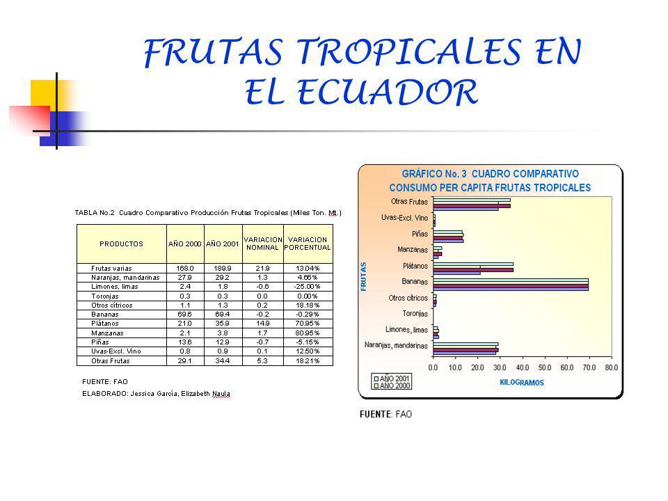 FRUTAS TROPICALES EN EL ECUADOR
