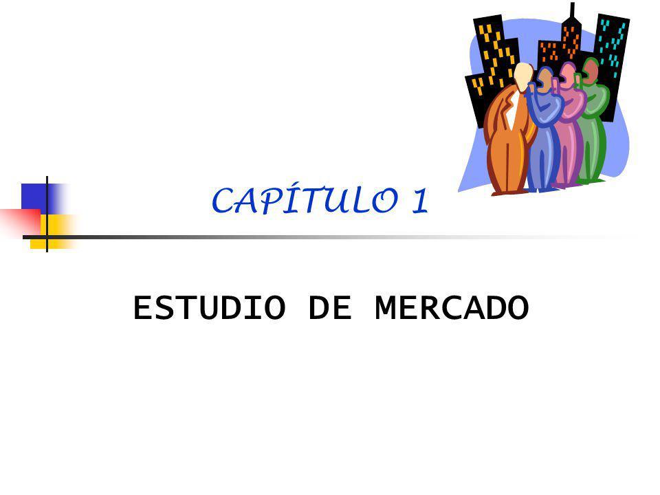 CAPÍTULO 1 ESTUDIO DE MERCADO