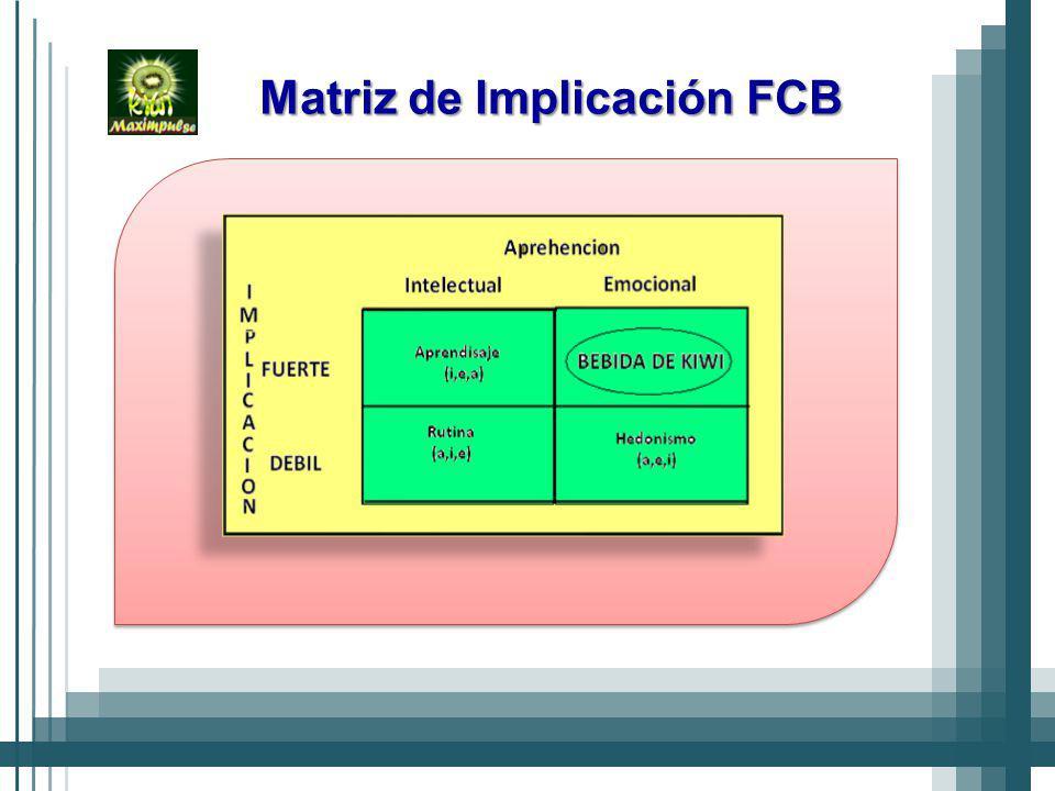 Matriz de Implicación FCB