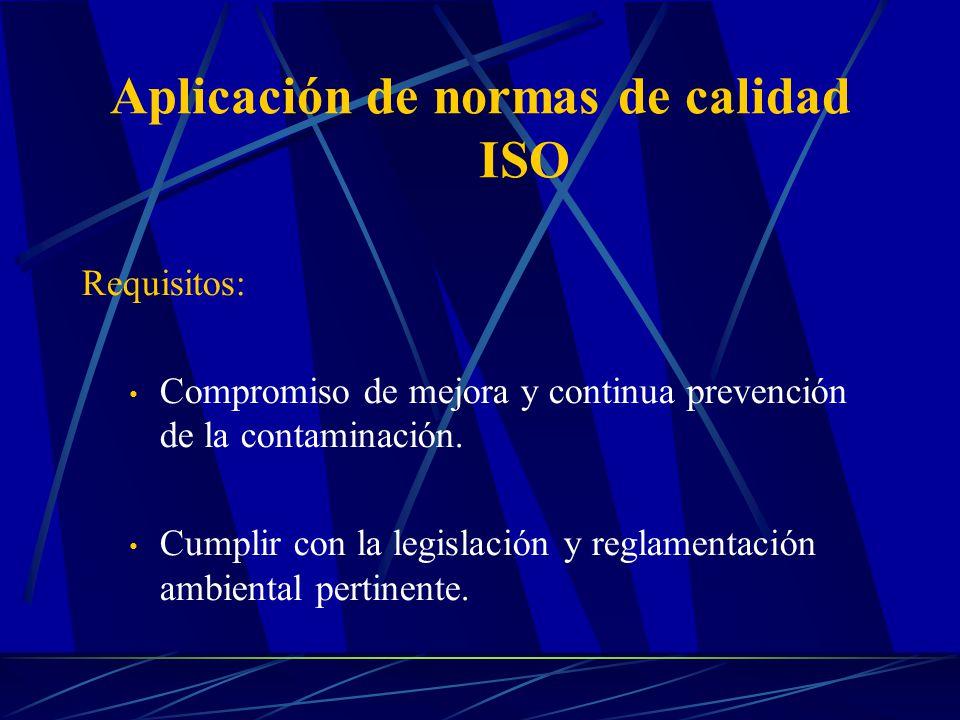Aplicación de normas de calidad ISO