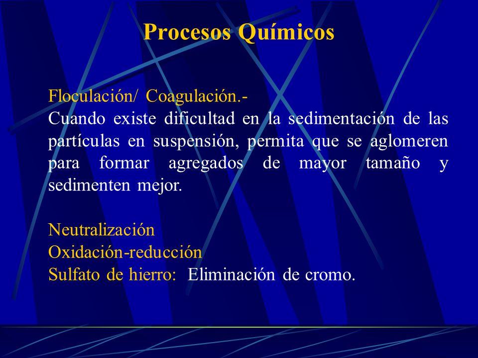 Procesos Químicos Floculación/ Coagulación.-