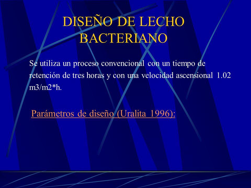 DISEÑO DE LECHO BACTERIANO