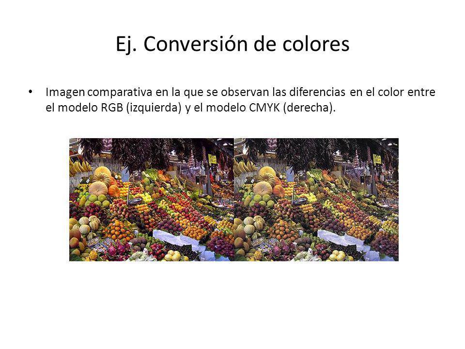 Ej. Conversión de colores